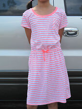 62% OFF! CIRCO JUNIOR NEON PINK STRIPED TEE SHIRT DRESS 14-16 YRS BNWT US$14.99