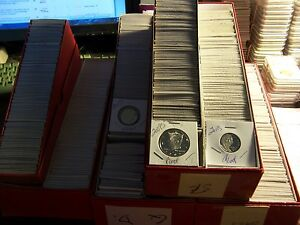 50 PROOF COIN LOT#5-NO PENNIES-FROM  HOARD OF BOXES FROM A COLLECTOR#JH11