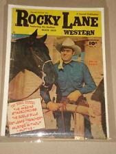 ROCKY LANE WESTERN #5 VG (4.0) FAWCETT COMIC