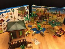 PLAYMOBIL Safari Station Africa 5759 Animals Complete Box instructions 2004 VHTF