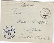 *Feldpost II. WK - 1942 * nach Lübeck (26)