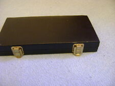 Travel Chess Magnetic Games Set in a Black Leather Case 60'