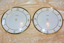 """Lot of 2 Heco Vintage Clock Dial Face Bezel 6"""" with Glass for parts Repair NOS"""