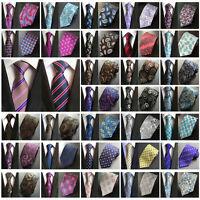 Men Paisley Floral Striped Jacquard Woven Tie 8cm Wide Casual Necktie
