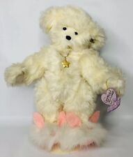 Annette Funicello Collectible Teddy Bear Ivory Plush w/ Necklace Bunny Slippers