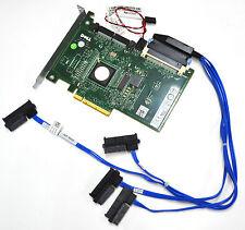 DELL RAID Controller PERC 6/IR LSI SAS 1068e mit Kabel 4 * SAS HDD SSD Turbo PC