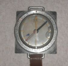Suunto Oy Helsinki vintage scuba water compass on leather strap,made N Finland