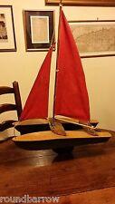 Vintage Gran catamarán Estanque Yate Barco Barco Modelo