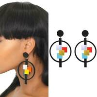 Fashion Women Geometric Acrylic Resin Earring Drop Dangle Stud Earrings NI Nice