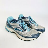 Brooks Adrenaline GTS 13 Womens Size 10 White Gray Blue Running Athletic Shoes