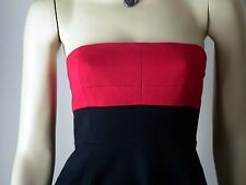 NWT THEORY red/black strapless dress tube cocktail 10 party sun beach cruise