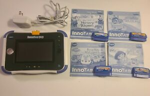 VTech InnoTab 3S Learning Tablet Kids Blue W 4 Games & Rechargeable Batteries