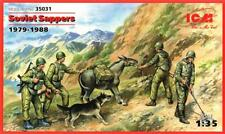 SOVIET/RUSSIAN SAPPERS/ENGINEERS (W/ DOG, MULE & AK-47 -AFGHAN WAR) 1/35 ICM