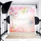 5x7FT Vinyl Flower Wood Floor Photography Backdrops Background Photo Studio Prop