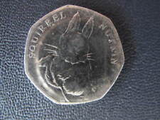 Beatrix Potter Coin Squirrel Nutkin 50 pence coin 2016