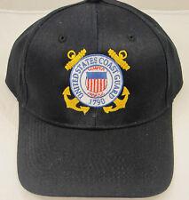US Coast Guard Awesome black baseball cap, Embroidery, Gift Idea