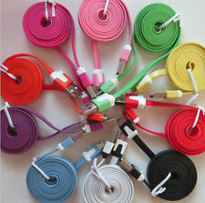 Wholesale LOT of 50 x Color FLAT Micro USB B Data Sync Charging Cable Phone