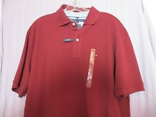 TOMMY HILFIGER MEN POLO SHIRT BURGUNDY (ZINFANDEL) SIZE L CLASSIC FIT 100%COTTON