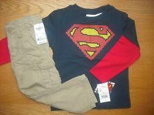 Toddler Boys NWT SUPERMAN Long Sleeve Shirt/OshKosh Cargo...