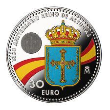 ESPAÑA 30 euro plata 2018 - 1300 años del Reino de Asturias