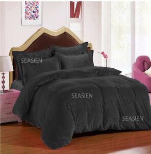 Comforter 5 PC Full / Queen / Oly Queen Plain Velvet Duvet Cover Set HOME DECOR