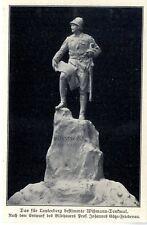 Das Wißmann-Denkmal für Lauterberg v. Bildhauer Prof.Götze-Friedenau von 1907