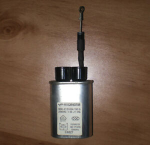 HV Capacitor Microwave Capacitor 1.05uF 2100VAC HCH-212105A + DIODE