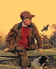 Antique Hunting Repro 8X10 Photograph Print English Setter Woodcock