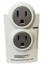 Monster FlatScreen PowerProtect AVFL 200 Surge Protector 2 Outlets - 1100 Joules