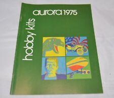 Vtg 1975 AURORA Hobby Kits Model Catalog NOS