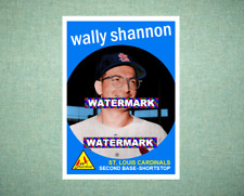 Wally Shannon St Louis Cardinals 1959 Style Custom Art Card