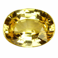 Oval Transparent Yellow Loose Sapphires