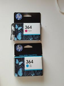 HP 364 Ink Cartridge - Magenta(opened but sealed )and Cyan new, from Lyreco.