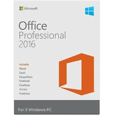 Microsoft Office Professional 2016 Suite | Retail Sealed | 3 PC