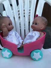Berenguer big eyed twin baby dolls- chubby 8 inch With Stroller B20