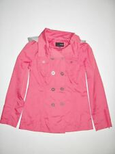 New Hurley Womens Winston Hooded Polyester Slicker Jacket Coat Small
