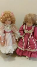 """Seymour Mann Porcelain Doll lot of 2 12"""" birthday girl Tracy and one with pearls"""