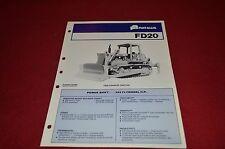 Fiat Allis Chalmers FD20 Crawler Tractor Dealer's Brochure DCPA2 ver