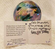 Glass Eye Studio Hand Blown Glass Raindrop Ornament Chameleon