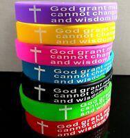 30pcs Jeremiah 29:11 Cross Black Silicone Bracelets Wholesale Jesus Wristbands