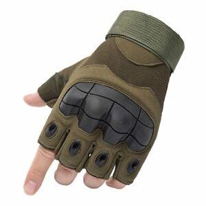 Half Finger Gloves Black Summer Motorcycle Motorbike Riding Gloves Fingerless