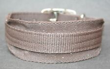 """Strong, Washable Equine Grade Webbing Lurcher Collar Brown Holes at 12.5""""- 17"""""""