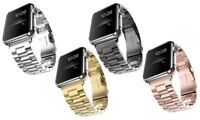 Band For Apple Watch 42mm Stainess Steel Link Bracelet Strap Buckle 38mm iWatch