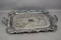 W. S. Blackington Silver Plate Victoria 130 Rectangle Footed Serving Tray 27""
