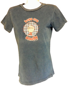 Womens Juniors David & Goliath Boys Are Smelly Distressed Blue Tee T-Shirt