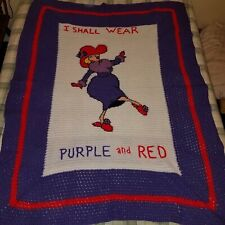Red Hat Society Sassy Hand Made Crocheted Afghan One of a Kind Diva Rare Unique