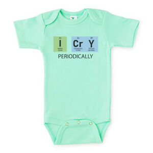 PERIODIC TABLE BABY BODYSUIT, I Cry Periodically, Infant ROMPER,CHEMIST Creeper