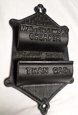 Cast Iron Match Holder Antique Turn Off Burner Matches Cheaper Than Gas Black