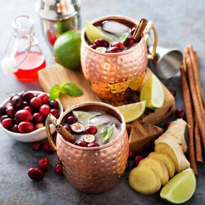 Moscow Mule Becher Set Kupferbecher Tasse aus  Kupfer im Kupfer Cocktailkrug