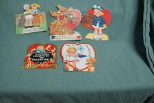 Vintage 1930-40's 5 valentine Cards.